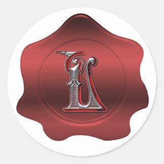 L elegante pegatina rojo de la mirada del sello de