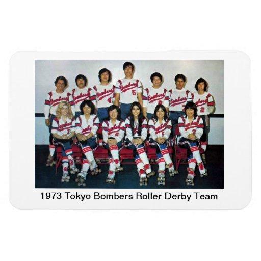 L: Equipo 1973 de Derby del rodillo de los bombard Imán Rectangular