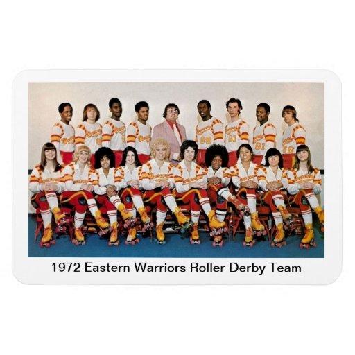 L: Equipo del este de Derby del rodillo de 1972 gu Imán