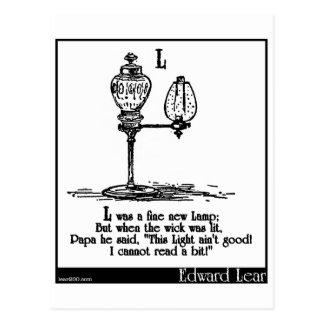 L era una nueva lámpara fina postal