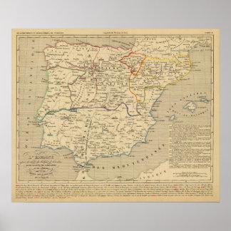 L Espagne 1027 un 1212 Posters