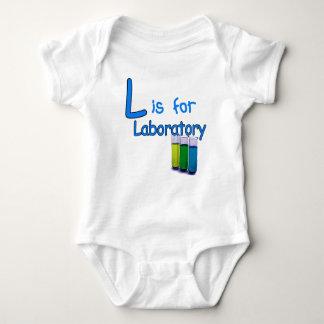 L está para el laboratorio body para bebé