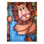 L está para el león postales
