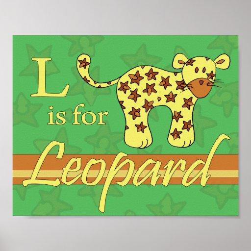 L está para el leopardo (el muchacho) póster