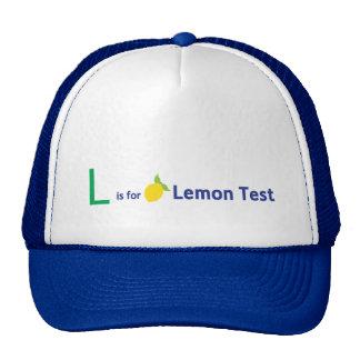 L está para la prueba del limón gorros