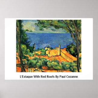 L Estaque con los tejados rojos de Paul Cezanne Impresiones