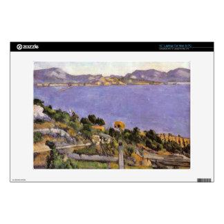 """L Estaque vue du golfe de Marseille 1878 - Cezanne 13"""" Laptop Skins"""
