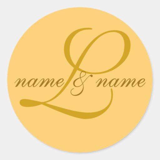 """""""L"""" etiqueta del monograma, personaliza los"""