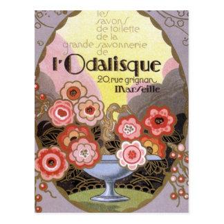 l etiqueta del perfume del Odalisque Postal