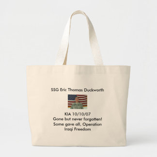 l_f38284182fd2416b6e185406bfb45c92, SSG Eric Th... Large Tote Bag