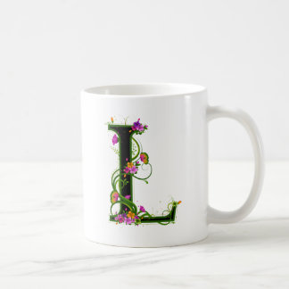 L floral taza de café
