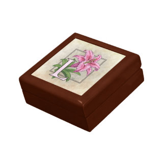 L for Lily Flower Monogram Gift Boxes