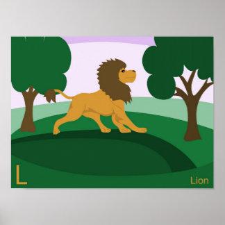 L for Lion Poster