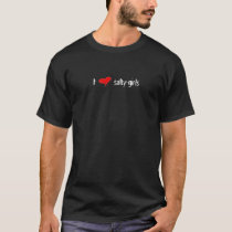 l) I heart salty girls - Men's black T T-Shirt
