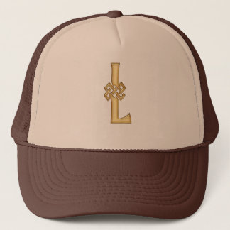 L Initial-Branded Personalised Fashion Hat