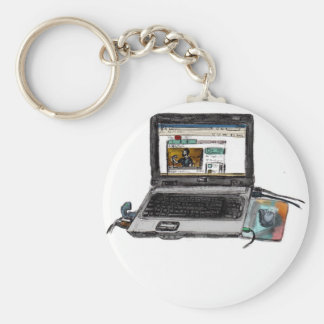 L is for Laptop Basic Round Button Keychain