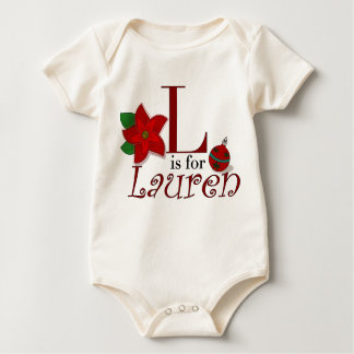 L is for Lauren, Baby's First Christmas T-shirt