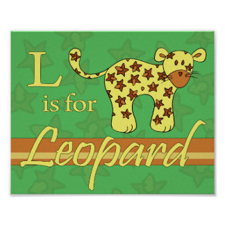 L is for Leopard (boy) Poster