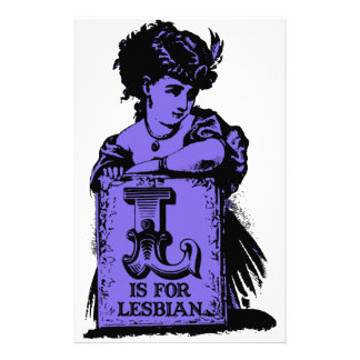 L is for 'lesbian' stationery