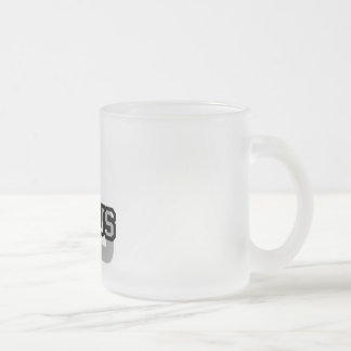 L is for Lexus Frosted Glass Coffee Mug