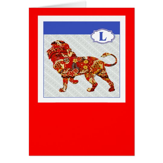 L is for Lion Card