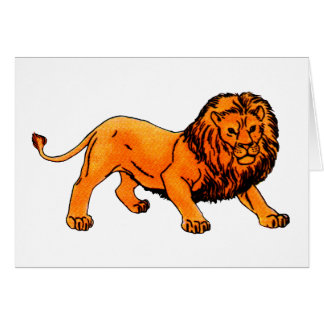 'L' is for Lion Card