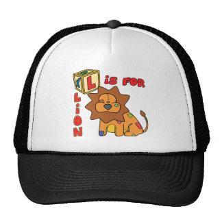 L is for Lion Hat