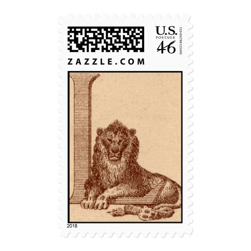 L is for Lion postage stamps