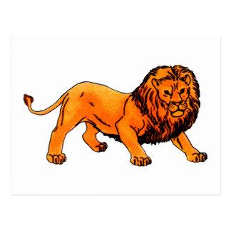 'L' is for Lion Postcard