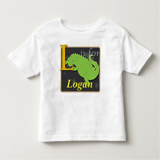 L Is For Lizard L Is For Logan Toddler T-shirt