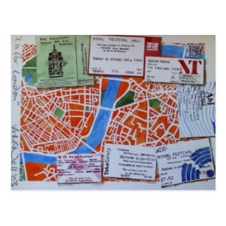 L is for London postcard