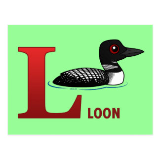 L is for Loon Postcard