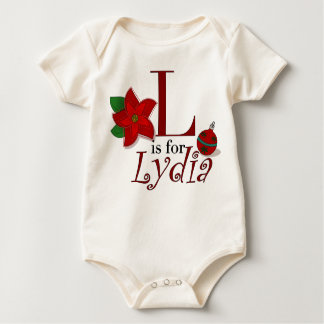 L is for Lydia, Baby's First Christmas Tee