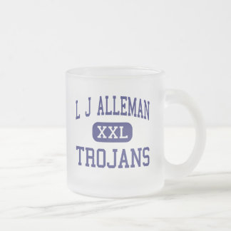 L J Alleman Trojans Middle Lafayette 10 Oz Frosted Glass Coffee Mug