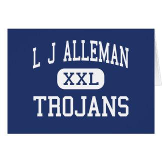 L J Alleman Trojans Middle Lafayette Greeting Card