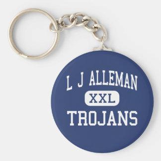 L J Alleman Trojans Middle Lafayette Keychain