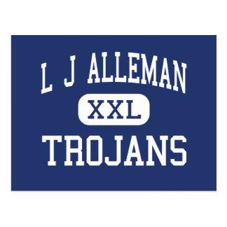 L J Alleman Trojans Middle Lafayette Postcard