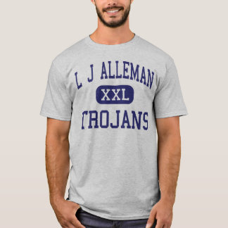 L J Alleman Trojans Middle Lafayette T-Shirt