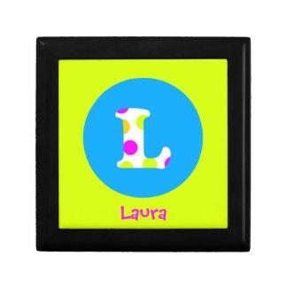 L joyero conocido personalizado inicial de los chi cajas de regalo