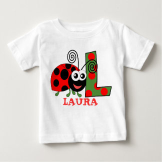 L LADYBUG personalised kids Baby T-Shirt