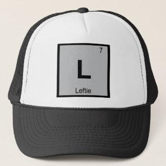 L - Leftie Chemistry Periodic Table Symbol Trucker Hat