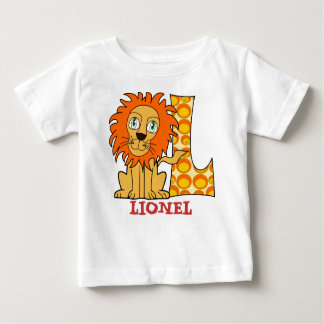 L LEOPARD name initial Baby T-Shirt