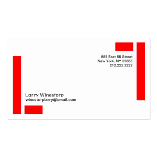 L Letter Alphabet Business Card Red