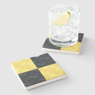 L Lima Watercolor Nautical Signal Maritime Flag Stone Coaster