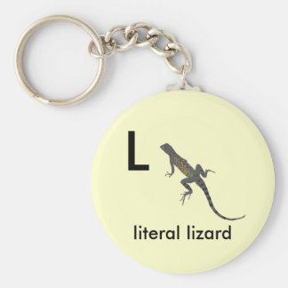L - literal lizard keychain