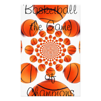 l Love Basketball the Game of Champions Stationery