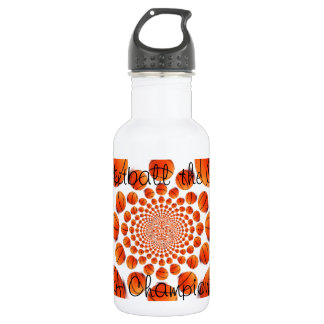 l Love Basketball the Game of Champs Water Bottle