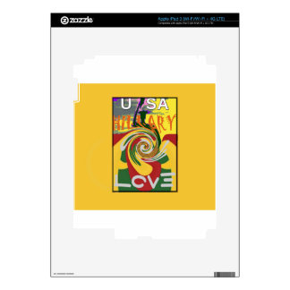 l Love Hillary USA President Stronger Together red iPad 3 Skin