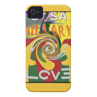 l Love Hillary USA President Stronger Together red iPhone 4 Cover