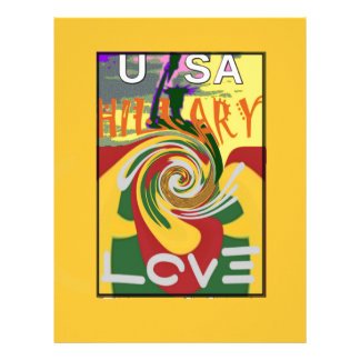 l Love Hillary USA President Stronger Together red Letterhead